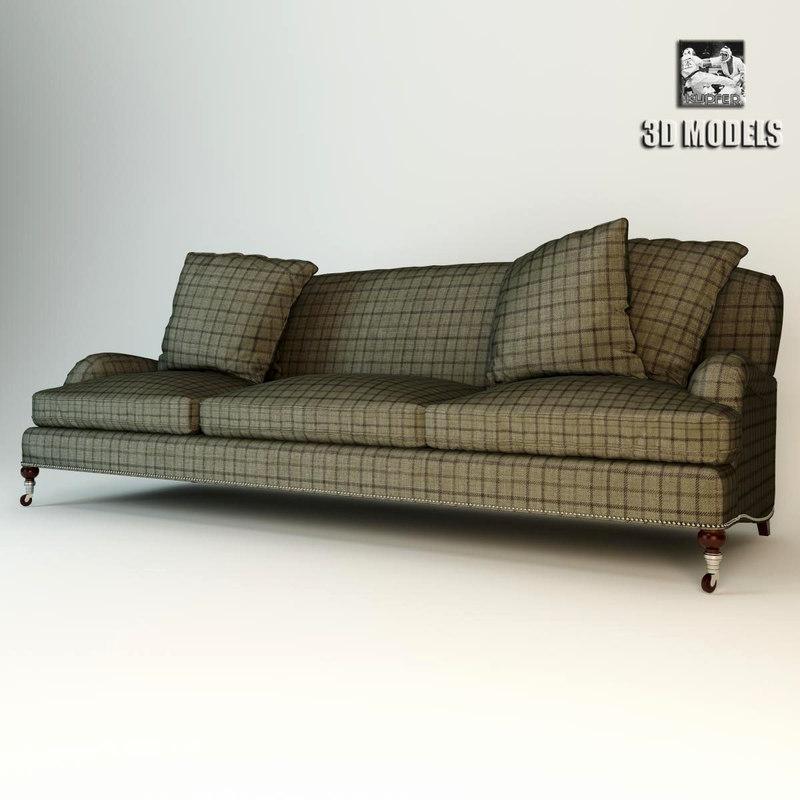 plaid sofa ralph 3d max