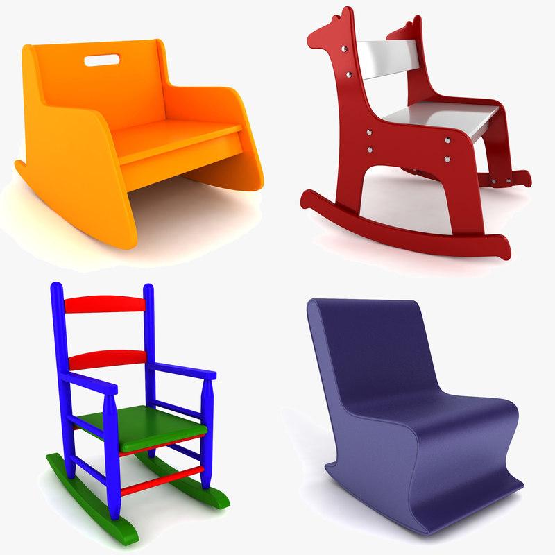 rocking chair kids papasan metal frame child dxf