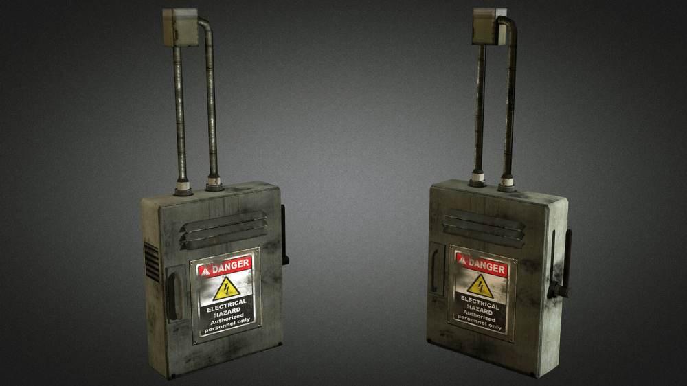 medium resolution of electric fuse box 01 3d model