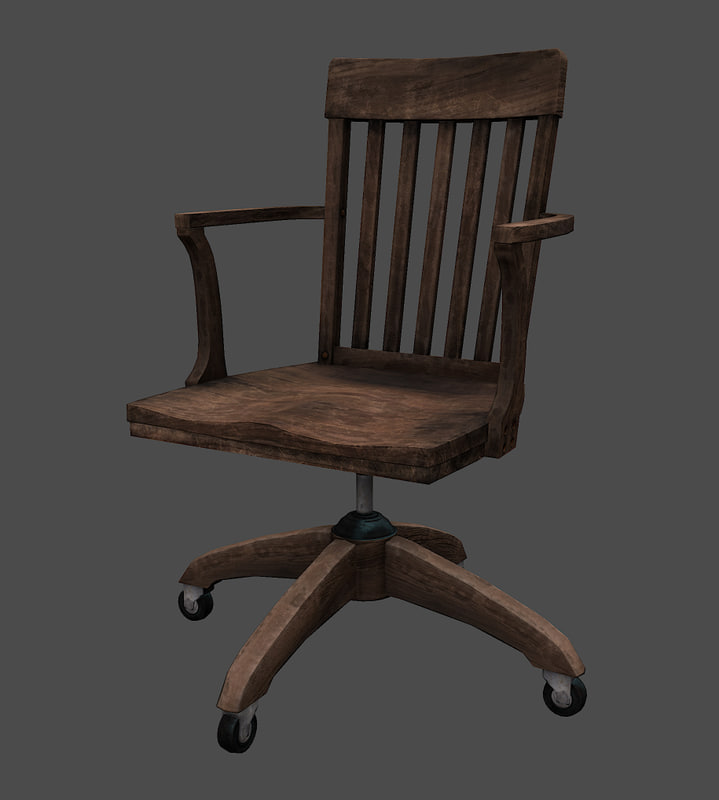 office chair 3d model leather smoking models for download turbosquid old