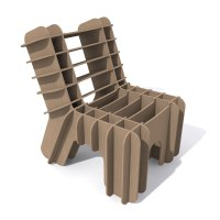 3ds eco-friendly cardboard chair