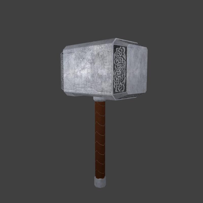 Maya Thor Hammer Mjolnir