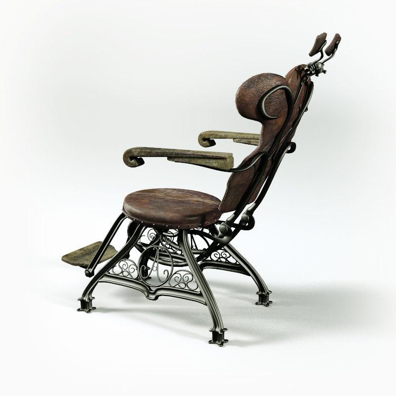 vintage dentist chair cheap covers melbourne 3d