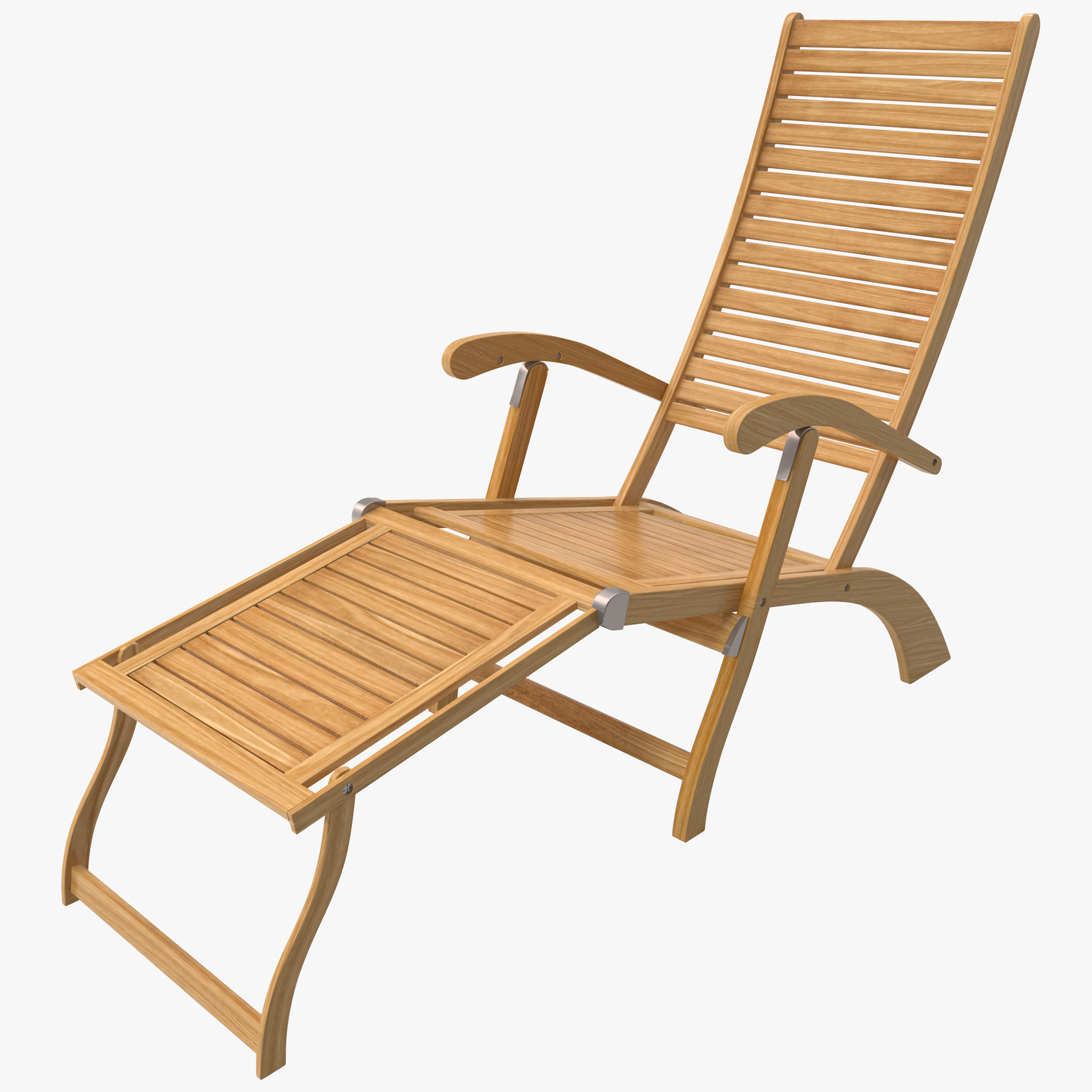 Beach Lounger Chair Chaise Lounge Beach Chair 3d C4d