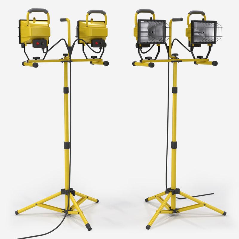 Voltec 500 Watt Heavy Duty Halogen Work Light 08 00609: Halogen Work Lamp