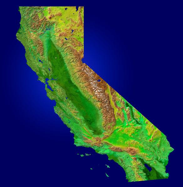 Texture Other Map California Satellite
