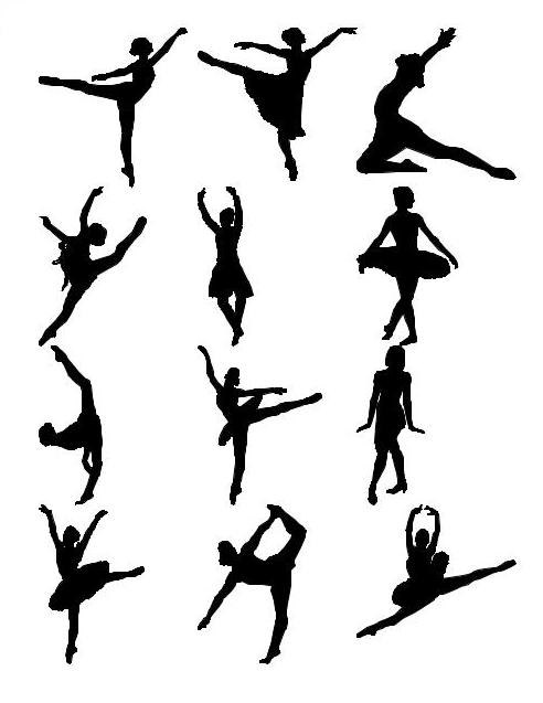 Shapes Other silhouet ballet people
