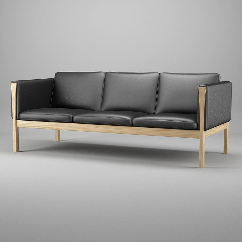 hans wegner sofa ch163 bed in bd 3ds max j