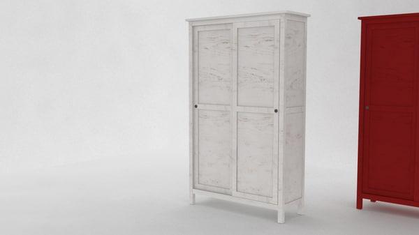 Arredamento per lingresso di casa ikea. 3d Model Ikea Hemnes Wardrobe 2