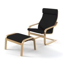 Ikea Lounge Chair Kids Soft Chairs 3d Model Poeng