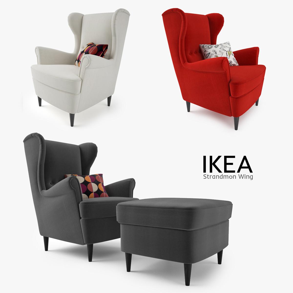 strandmon wing chair review best outdoor teak lounge 3d model ikea