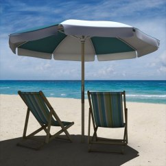 Beach Chairs And Umbrella Upholstered Rocking Chair Nursery 3d Model