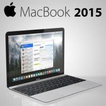 Macbook 2015 3d Model