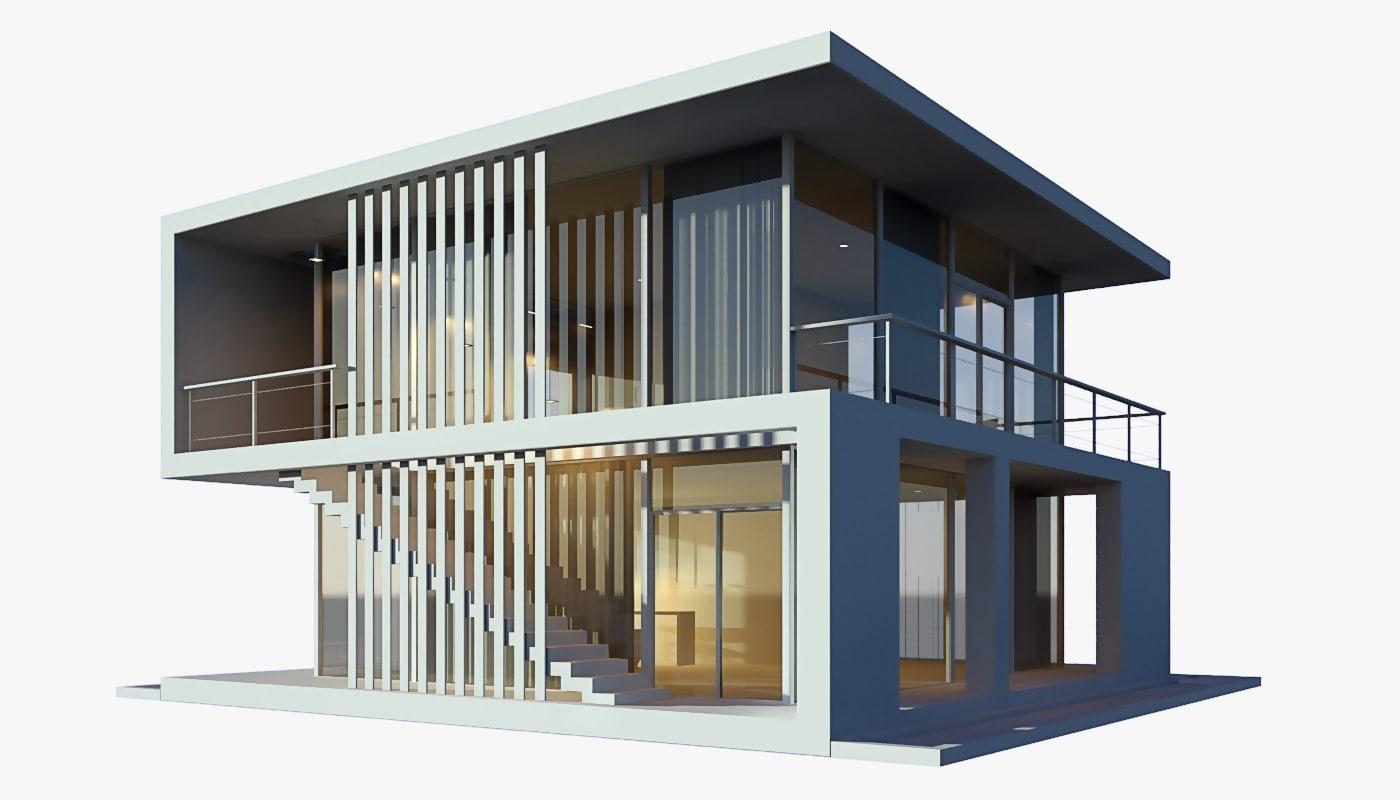 Best Kitchen Gallery: 3d Modern Beach House Model of Modern Beach House on rachelxblog.com