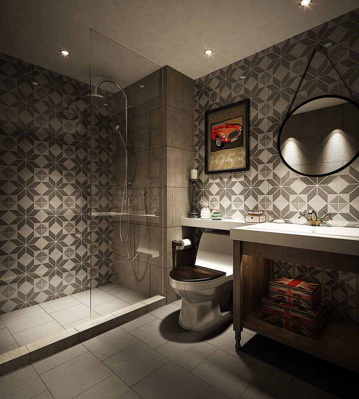 british style bathroom 3d model