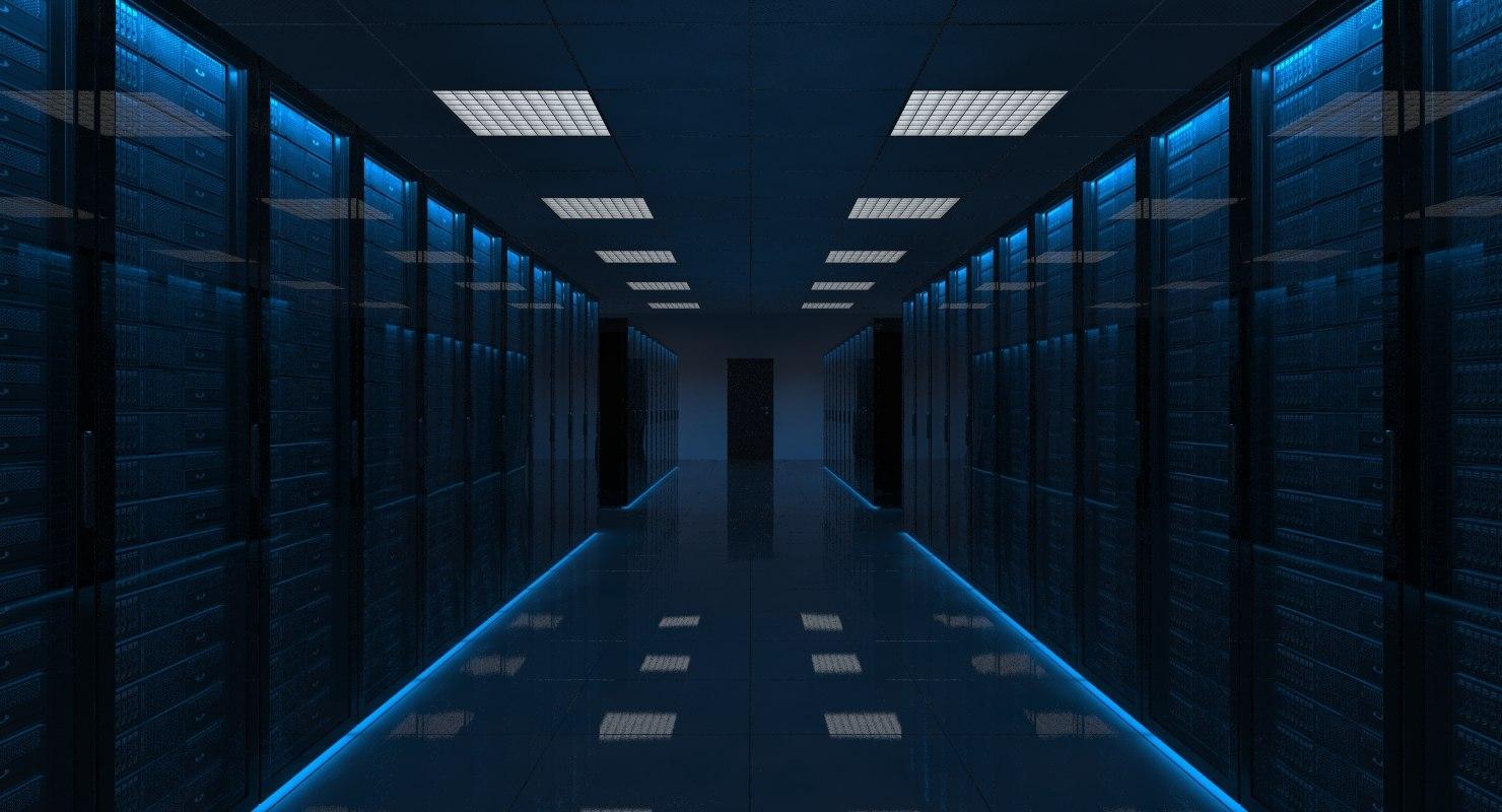 3ds max server room