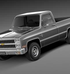 black 1987 chevy pickup [ 1066 x 800 Pixel ]