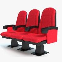 3d model movie theater seats