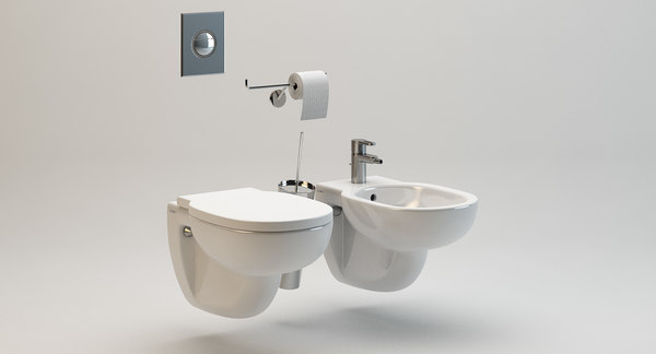 Duravit Wall Mounted Bathroom Fixtures 3d Obj