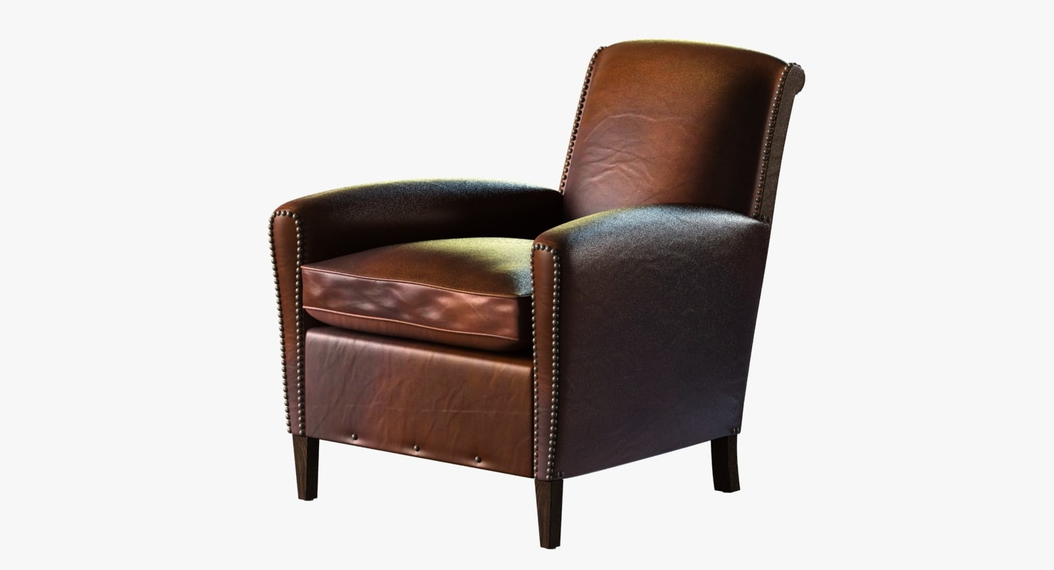 Restoration Hardware Leather Chairs Restoration Hardware Gerrard Leather Club Chair