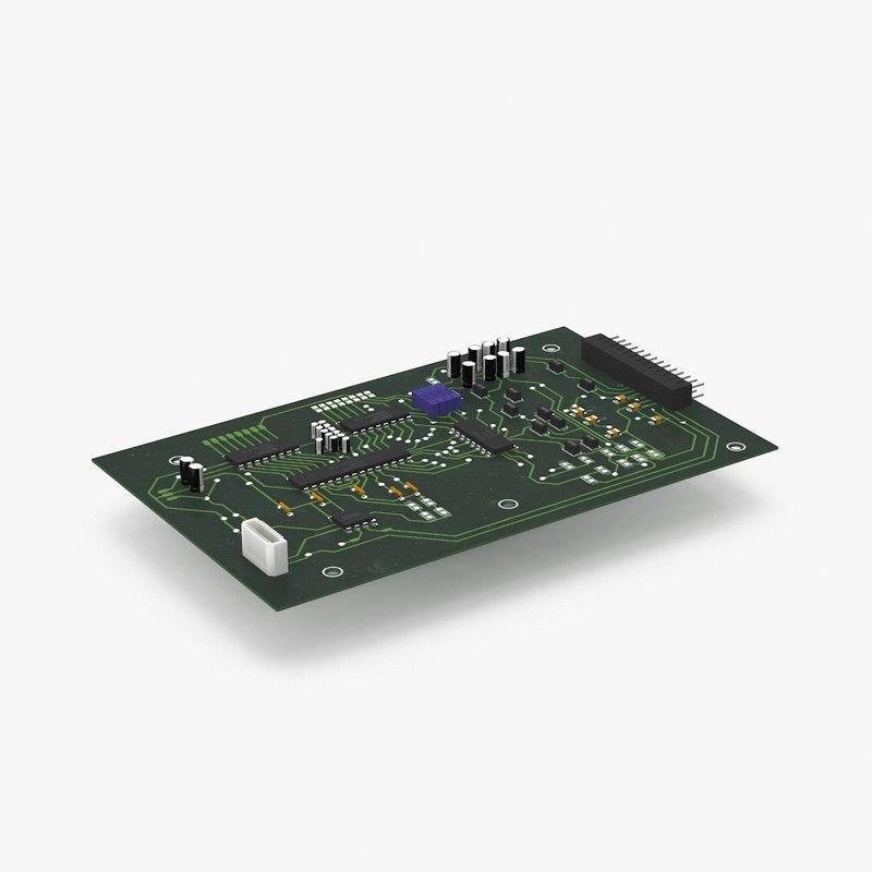 circuit board 3d model year of clean waterElectronic Circuit Board 3d Model Cgstudio #16