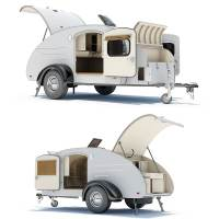 teardrop trailer interior 01 3d 3ds