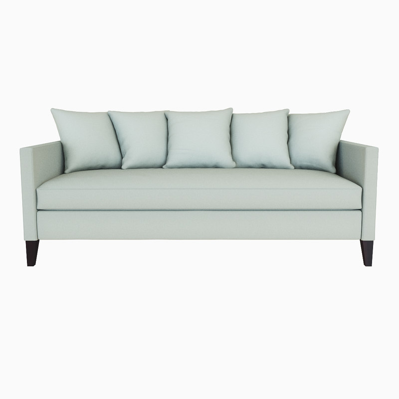 dunham sofa ashford west elm 3d model down filled toss back