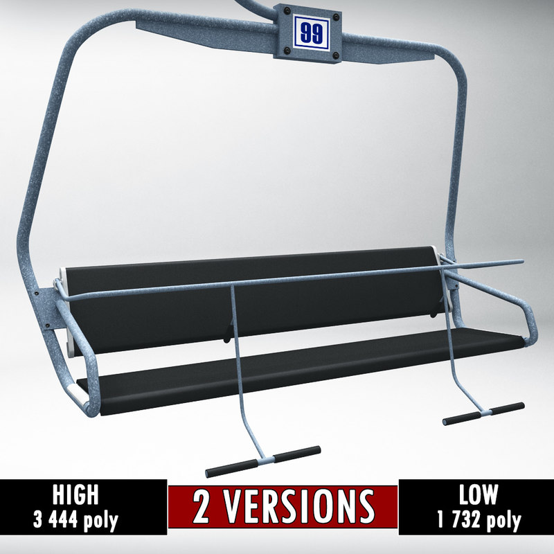 buy ski lift chair steelers office polys 3d model