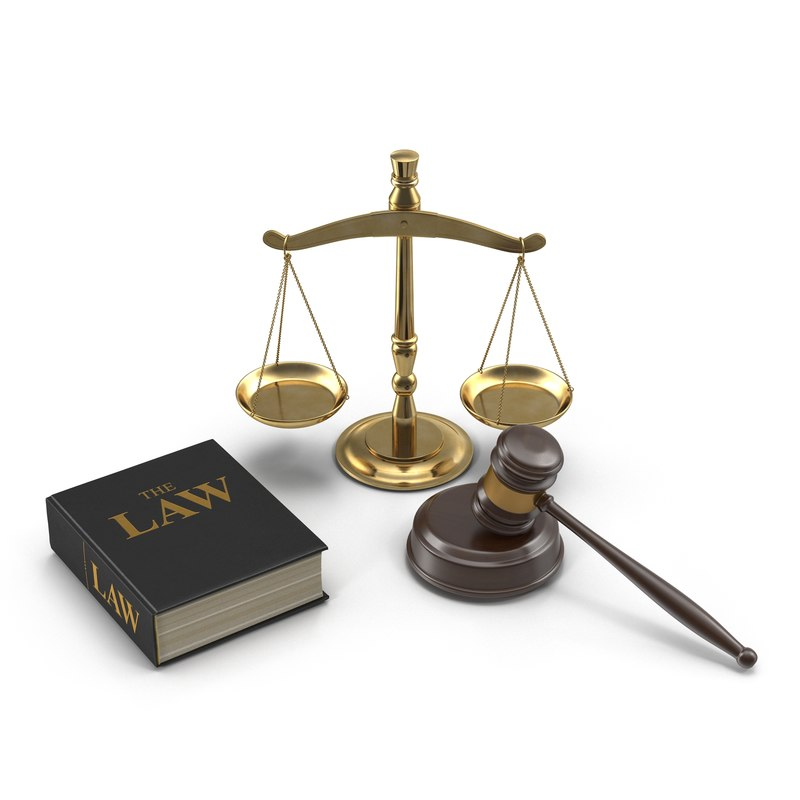 legal gavel scales and