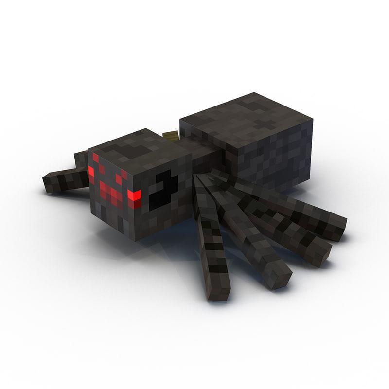 minecraft spider 3d max