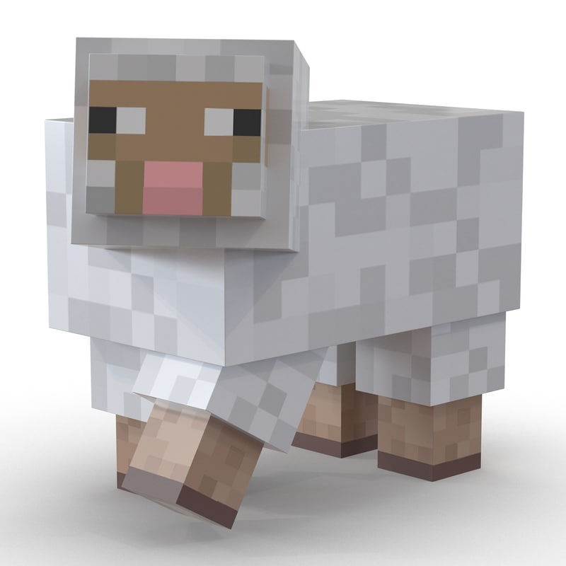 3d minecraft sheep rigged