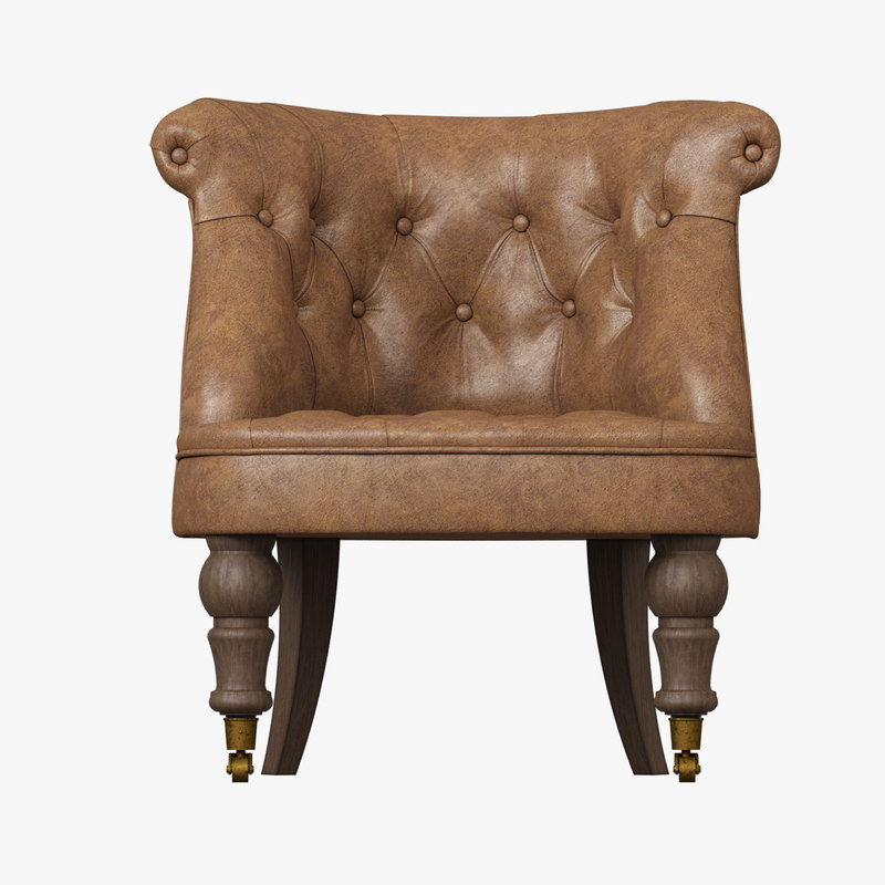 Restoration Hardware Leather Chairs Restoration Hardware Sophie Tufted Leather Slipper Chair