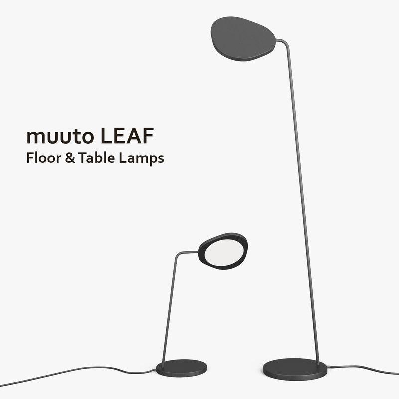3ds muuto leaf table floor lamps
