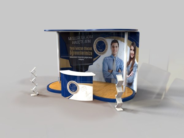 Exhibition Stand 3d Model : 3d model banner stands year of clean water