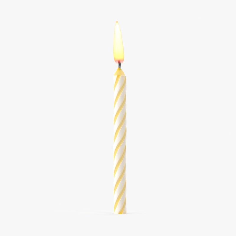 yellow birthday candle 1