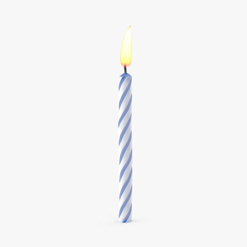 blue birthday candle