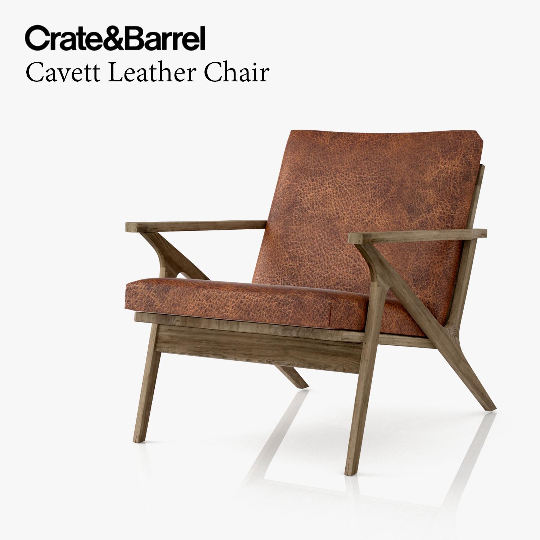 3d model cavett leather chair