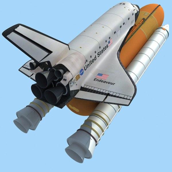 3d Model Nasa Space Shuttle Endeavour