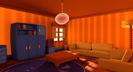 Living Room Cartoon