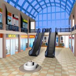 Shopping Center Shopping Mall Cartoon
