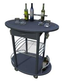 3d portable bar cart minibar model