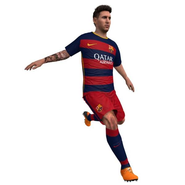 3d model lionel messi soccer animations
