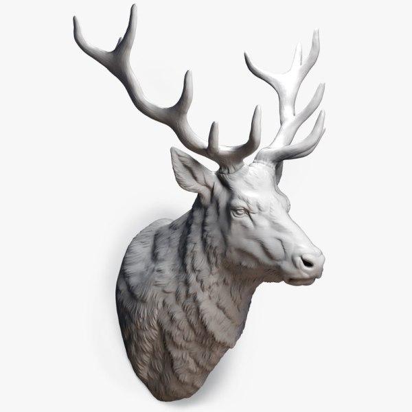 Deer Head Sculpture