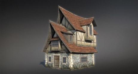 3d model medieval fantasy house