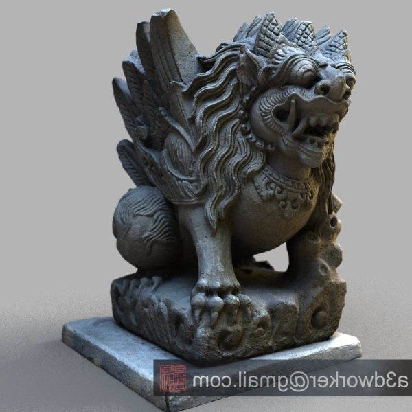 3d Max Bali Sculpture