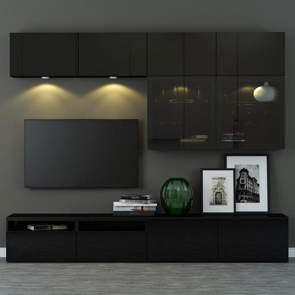 modele 3d de ika besta combinaison meuble tv selsviken turbosquid 1058392