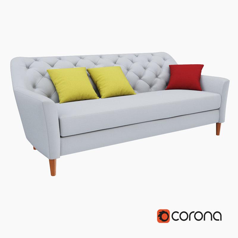 west elm dunham sofa reviews hamiltons 3d model of