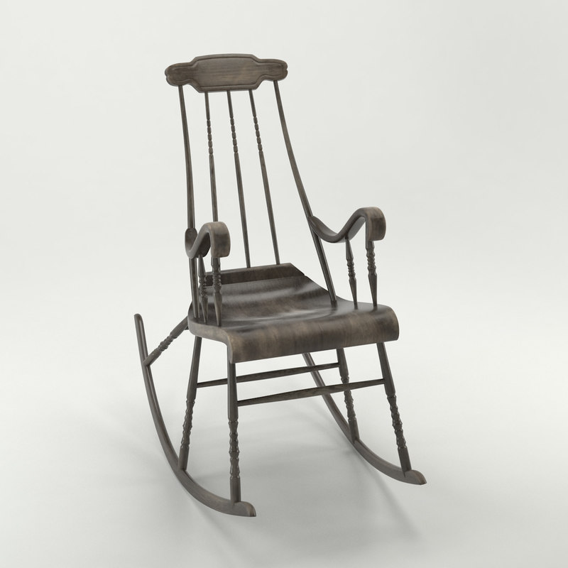 3d old rocking chair model