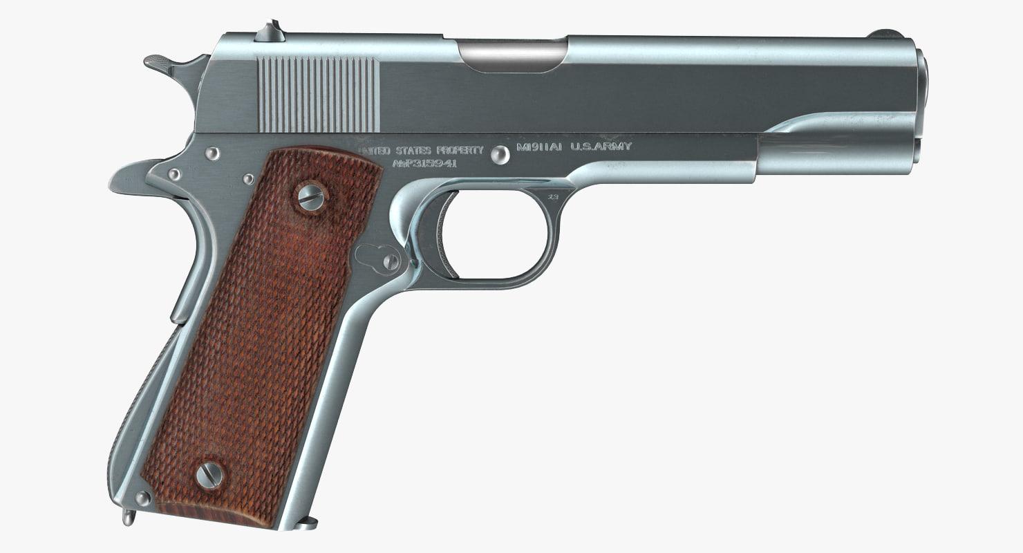 pistol colt m1911 3d