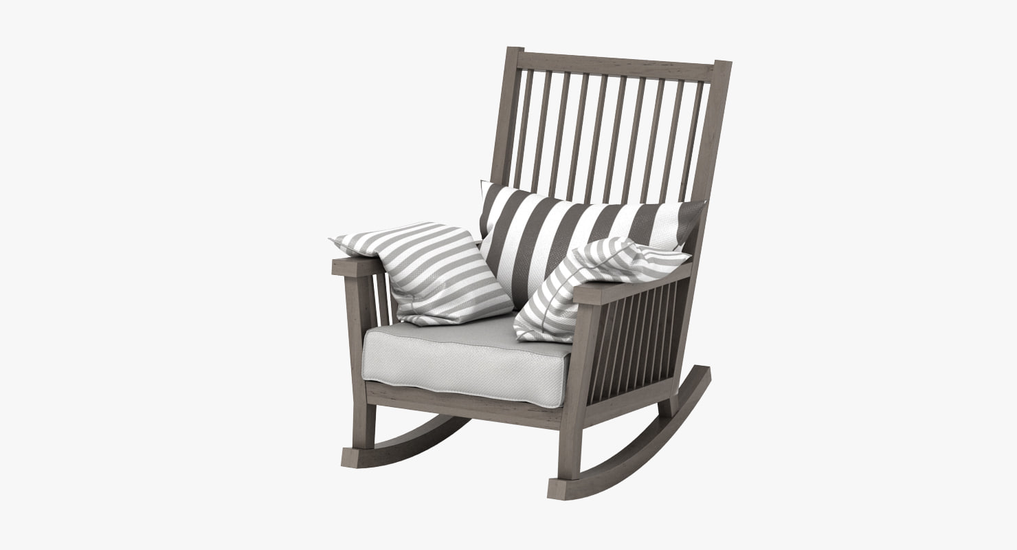 Grey Rocking Chair 3d Gervasoni Gray Rocking Chair Model